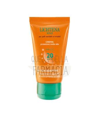 Lichtena Linea Sole Crema Solare Adaptive SPF20 Pelli Sensibili Irritabili 50 ml