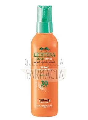 Lichtena Linea Sole Bambini Spray Solare SPF30 Pelli Sensibili Irritabili 200 ml