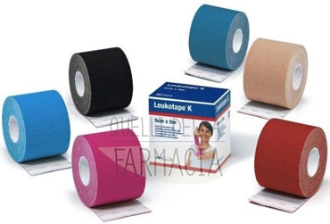 BSN Medical Linea Medicazioni Leukotape K Nastro Adesivo 5cm x 5m Rosso