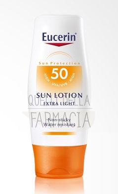 Eucerin Linea Solare Pelli Sensibili SPF50 Lozione Protettiva ExtraLeggera 150ml