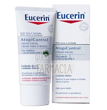 Eucerin Linea AtopiControl Crema Lenitiva Viso 12% Omega Pelli Atopiche 50 ml