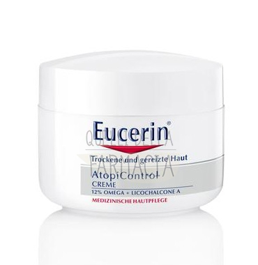 Eucerin Linea AtopiControl Crema Zone Specifiche Viso Corpo Pelli Atopiche 75 ml