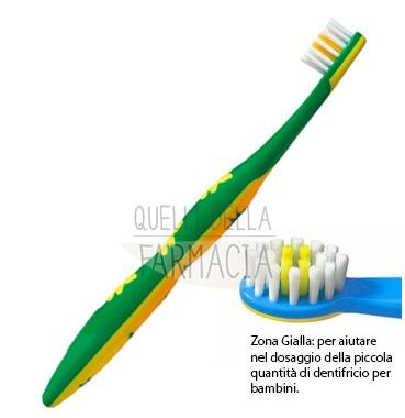 elmex Linea Igiene Dentale Quotidiana Bimbi Spazzolino Delicato 0-3 Anni