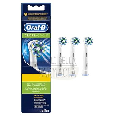 Oral-B Linea Igiene Dentale Quotidiana CrossAction 3 Spazzolini di Ricambio