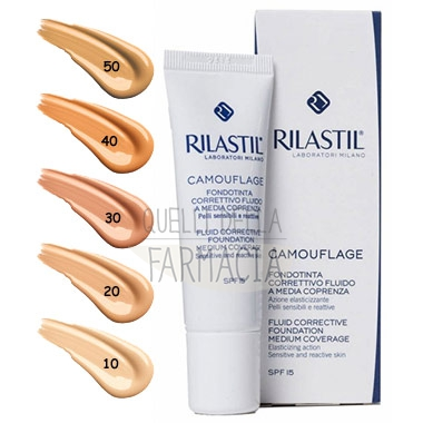 Rilastil Make-up Linea Camouflage Fondotinta Fluido Media Comprenza 30 Honey