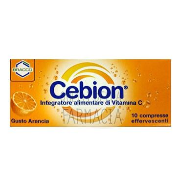 Cebion Linea Difese Immunitarie Vitamina C Integratore 10 Compresse Efferv Aranc